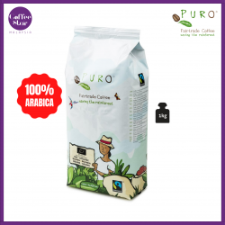 Belgium Import] PURO Fairtrade Coffee Beans Organic - Dark Roast 1kg Bag