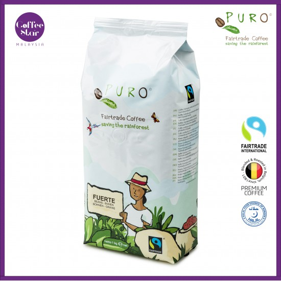 [Belgium Import] PURO Fairtrade Coffee Beans - Fuerte 1kg Bag
